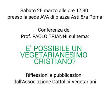 E' possibile un vegetarianesimo cristiano?